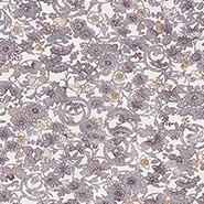 薄い紫色の花をあしらった生地