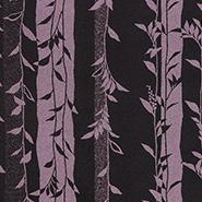 紫の葉をあしらった生地