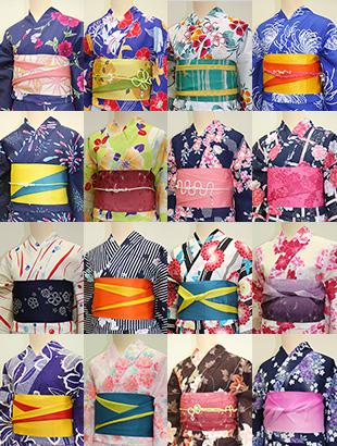 様々なデザインの着物