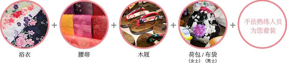 Yukata Obi Geta Kinchaku pouch shingen bag fitting by experienced staff