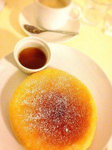 京都の朝ごはんパンケーキ