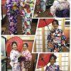 着物を楽しむ女性の様々な写真