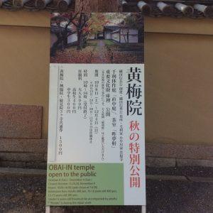 秋の京都大徳寺黄梅院
