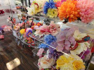 京都着物レンタル花かんざし 店内