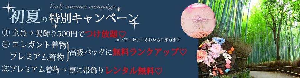 京都着物レンタル花かんざし 初夏の特別キャンペーン