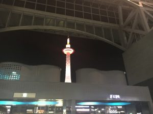 京都着物レンタル花かんざし 夜の京都タワー