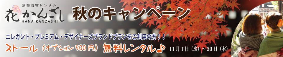 京都着物レンタル花かんざし ストールキャンペーン