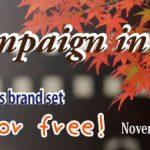 The campaign in autumn